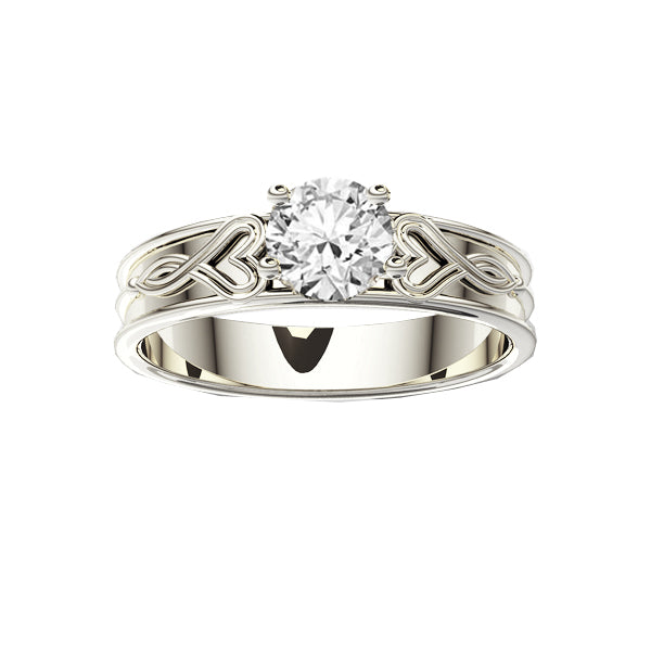 Edinburgh Luckenbooth Infinity Heart Diamond Engagement Ring in White Gold