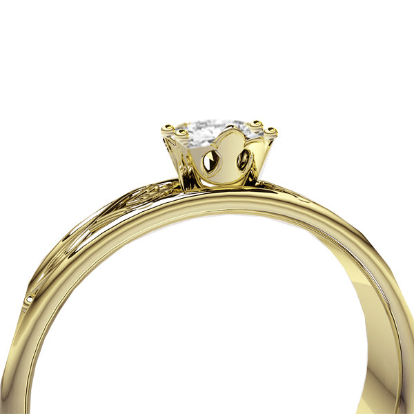 Edinburgh Luckenbooth Infinity Heart Diamond Engagement Ring in Yellow Gold