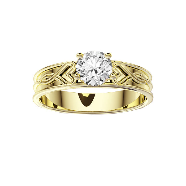 Edinburgh Luckenbooth Infinity Heart Diamond Engagement Ring