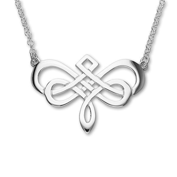 Classic Celtic Loop Torque Necklace in Silver
