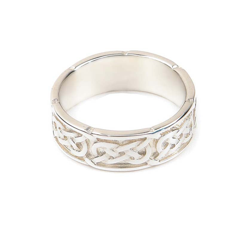 Celtic Interlace Flow Wedding Ring