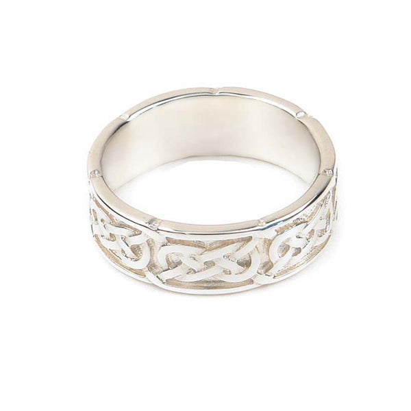 Celtic Interlace Flow Wedding Ring in Silver- Tappit Hen Gallery