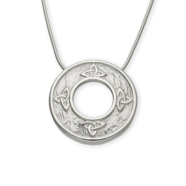 Celtic Knot Work Round Eternal Trinity Pendant