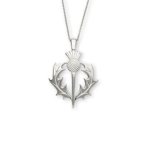 Scottish Thistle Heritage Pendant in Sterling Silver