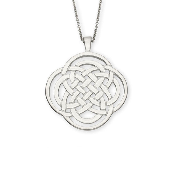 Celtic Knot Work interflow Sterling Silver Pendant