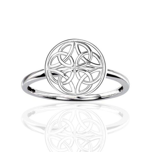 Four Celtic Trinity Knot Signet Ring