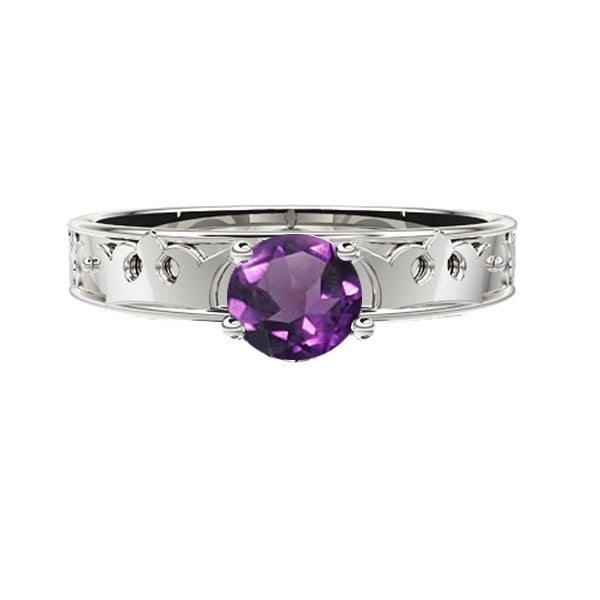 ROYAL EDINBURGH LUCKENBOOTH AMETHYST RING