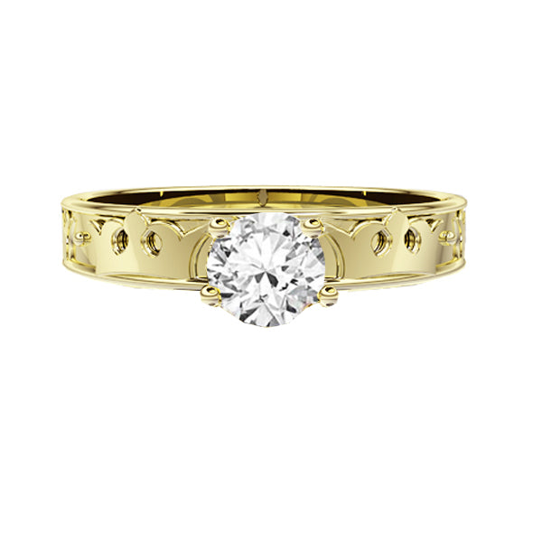Royal Edinburgh Luckenbooth Diamond Engagement Ring in Yellow Gold