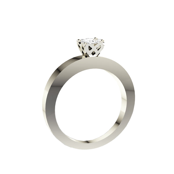 Edinburgh Saltire Diamond Engagement Ring in White Gold