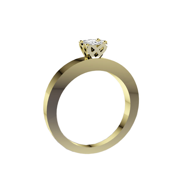 Edinburgh Saltire Diamond Engagement Ring in Yellow Gold