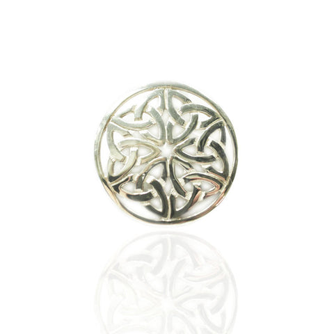 Celtic Endless Knotwork Brooch In Silver