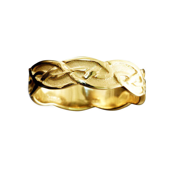 Foula Celtic Knotwork Ring Yellow Gold