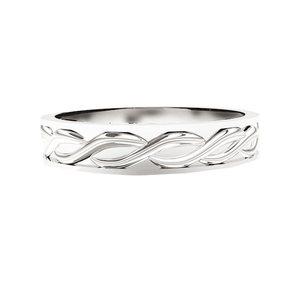 Solid Scottish Edinburgh Celtic Twist Wedding Ring