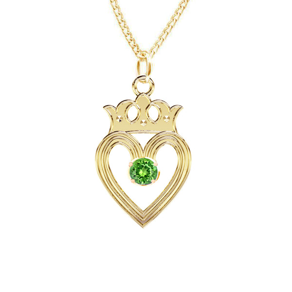 Edinburgh Luckenbooth Peridot Pendant IN YELLOW GOLD