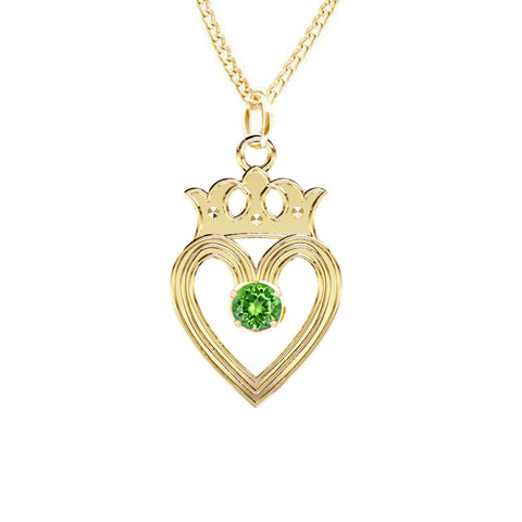 Edinburgh Luckenbooth Peridot Pendant