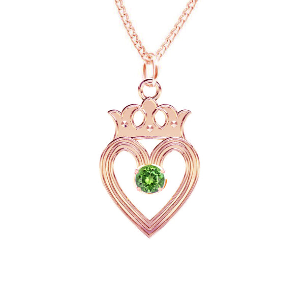 Edinburgh Luckenbooth Peridot Pendant IN ROSE GOLD