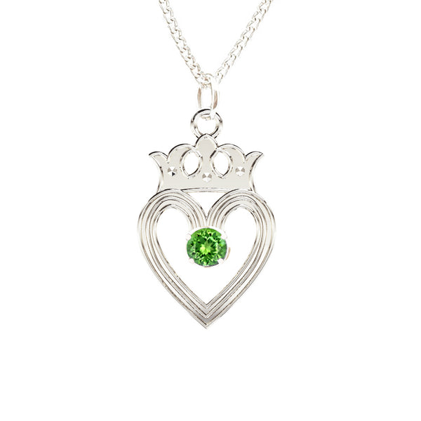 Edinburgh Luckenbooth Peridot Pendant IN SILVER
