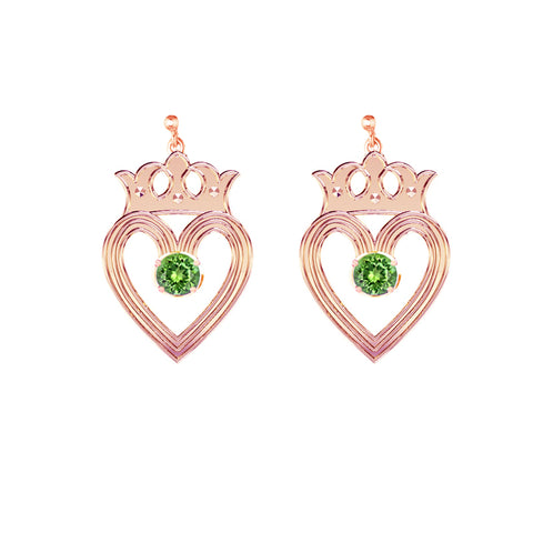 Edinburgh Luckenbooth Peridot Drop Earrings