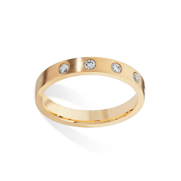 5 Diamond Gold Wedding Band- Tappit Hen Gallery