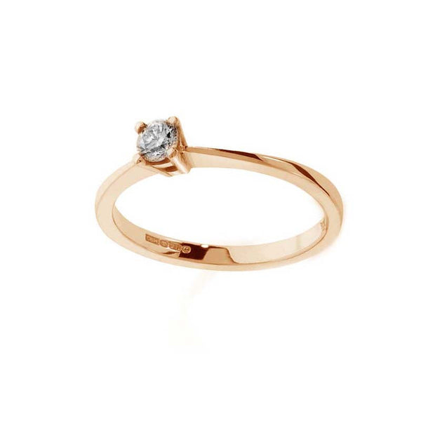A Beautiful Diamond Claw Set Traditional Gold Engagement Ring