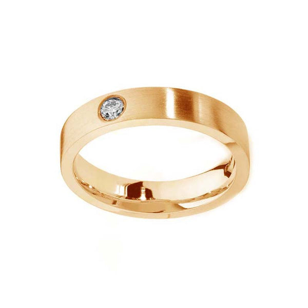 Flush Set Diamond Band Gold Ring- Tappit Hen Gallery