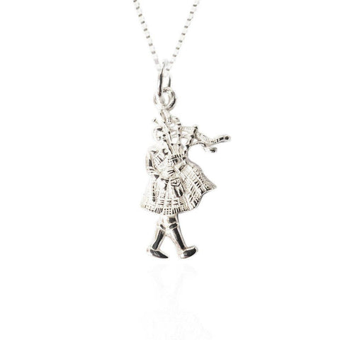 Scottish pendants necklets tappit hen gallery scottish celtic bagpiper pendant in silver aloadofball Images