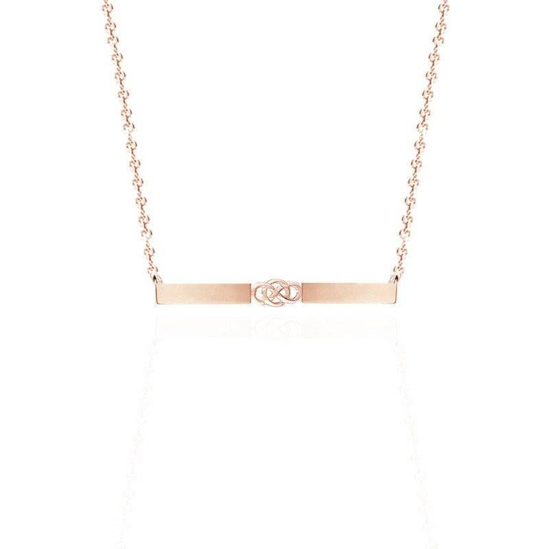 Bar Celtic Layered Necklace In Gold Vermeil
