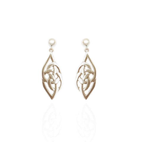 Sterling Silver Celtic Flow Drop Earrings