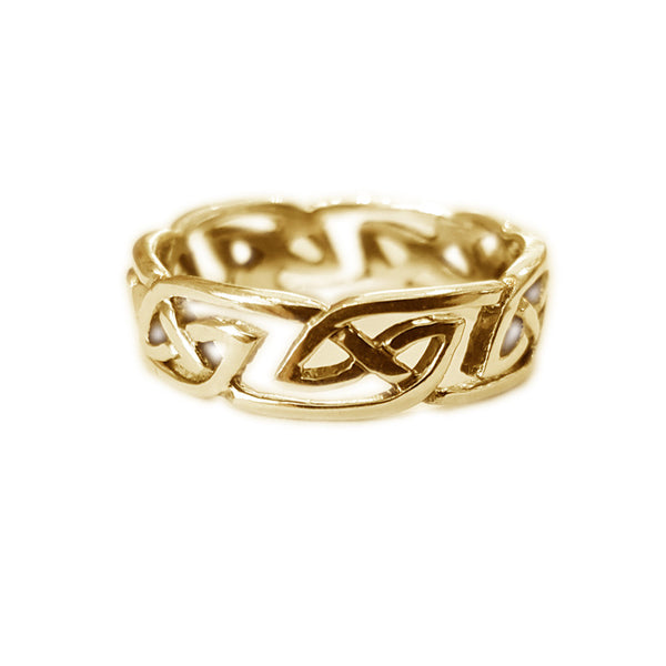 Traditional Edinburgh Celtic Knotwork Ring-gold-jn79-g