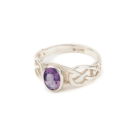 Celtic Knotwork Amethyst Ring
