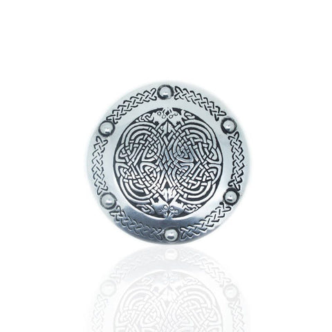 Celtic Belt Buckle In Pewter