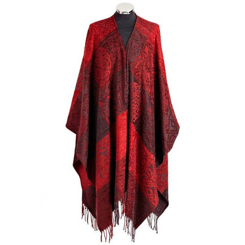 Celtic Cape in Red with Matching Brooch