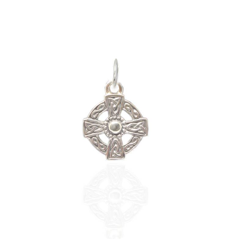 Celtic Cross Charm in Silver