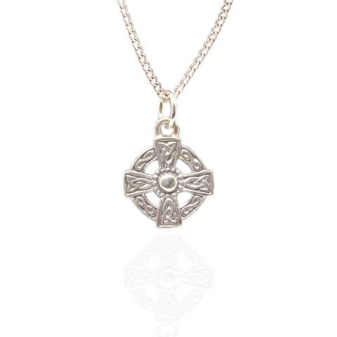 Celtic Cross Pendant Charm in Silver