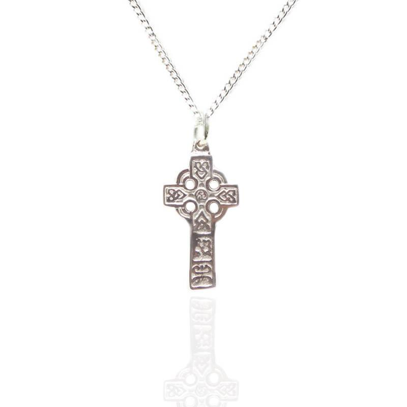 Celtic Cross Pendant In Pewter