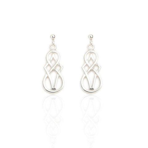 Celtic Design Earrings In Silver
