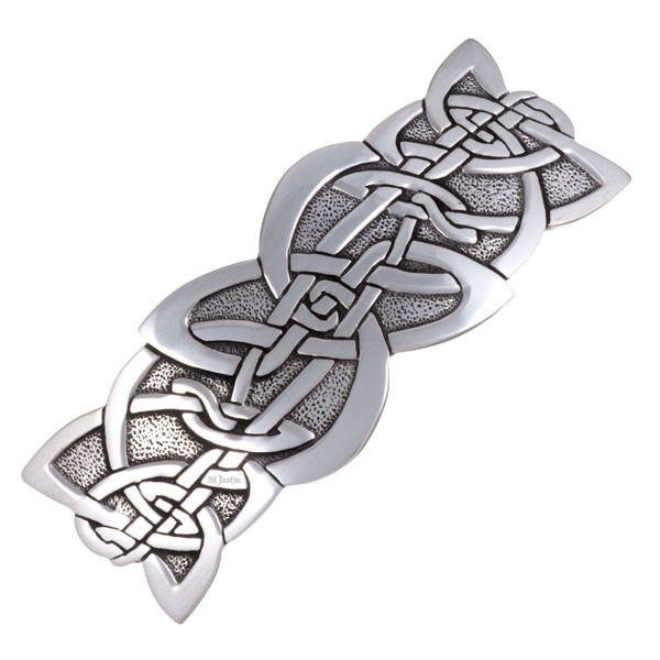 Celtic Design Hair Slide In Pewter