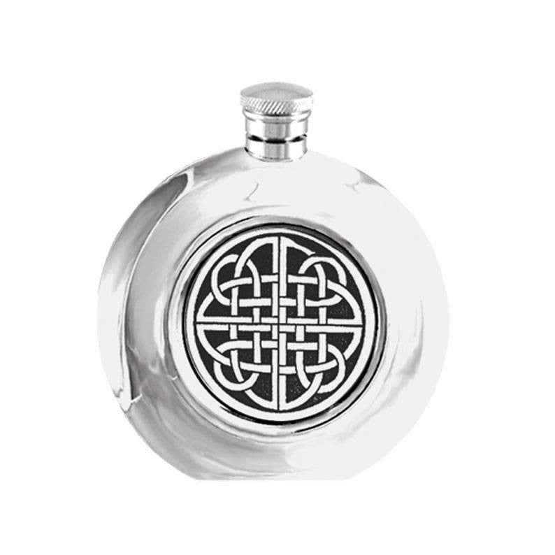Celtic Hip Flask in Pewter