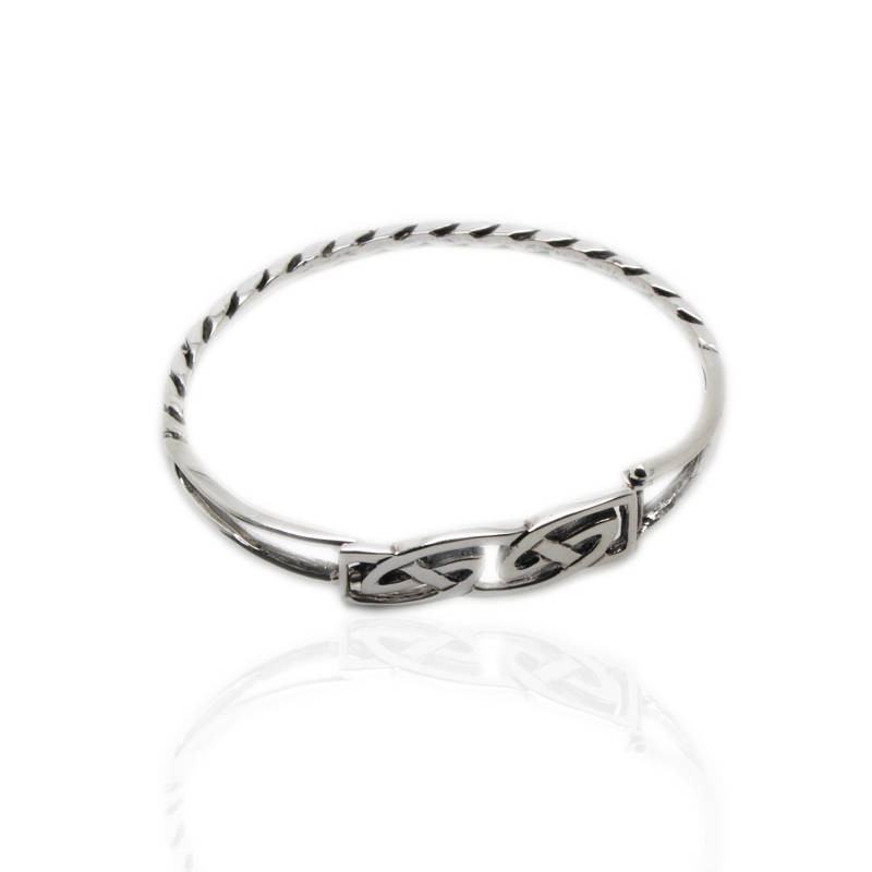 Celtic Interlace Bangle in Silver