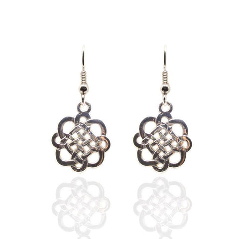 Celtic Interlace Earrings in Silver