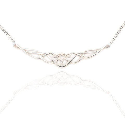 Celtic Interlace Necklet In Silver