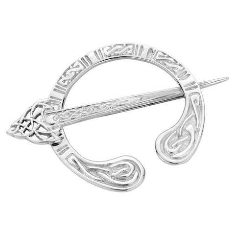 Celtic Interlace Penannular Brooch In Silver