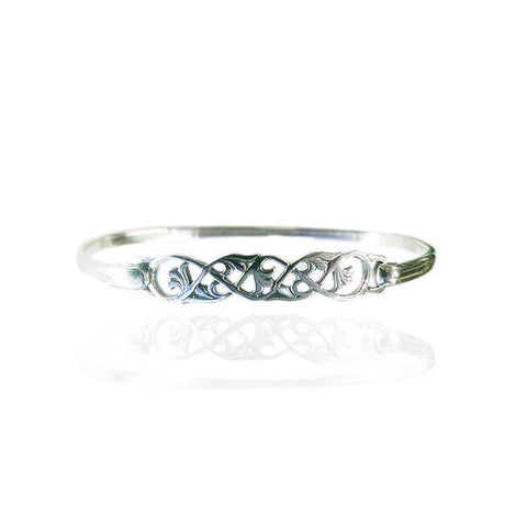 Celtic Interweave Bangle in Silver