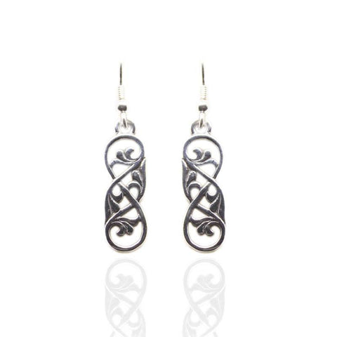 Celtic Interweave Earrings in Silver