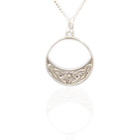 Celtic Island Pendant in Silver