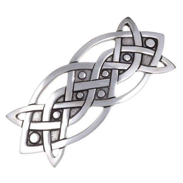 Celtic Knot Hair Slide In Pewter