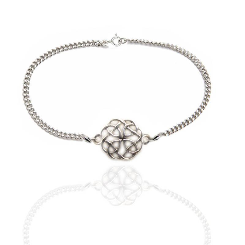Celtic Knotwork Bracelet in Silver