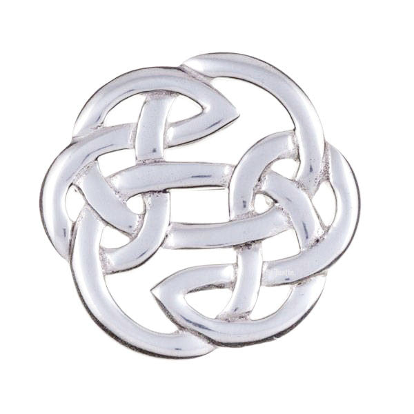 Celtic Knotwork Brooch In Pewter
