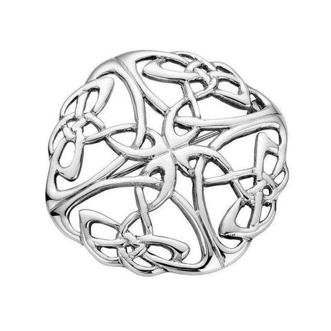 Celtic Knotwork Brooch In Silver