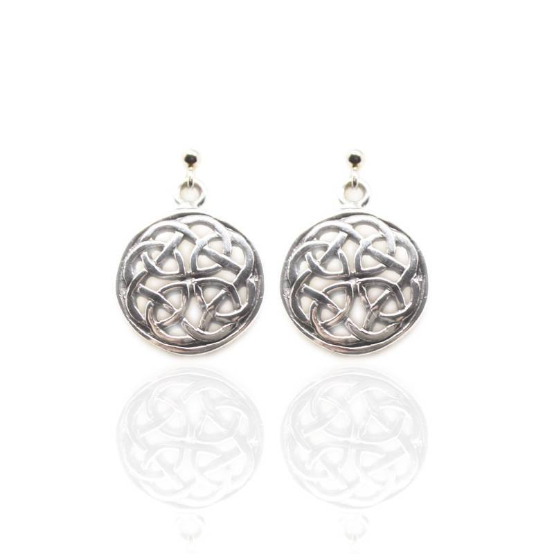 Celtic Knotwork Earrings in Silver